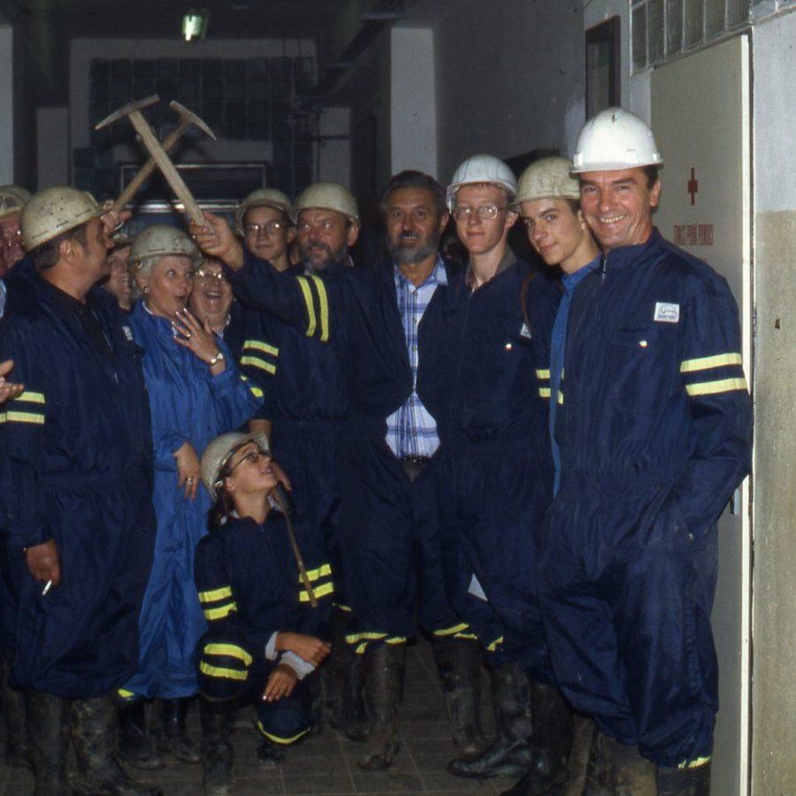 Ausfahrt zum Kupferbergwerk Medenec/Tschechien